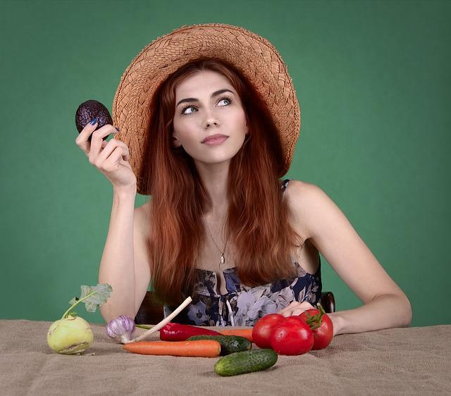 zelenina, žena, zdraví