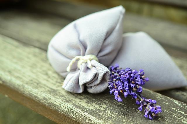 textilní sáček s levandulí