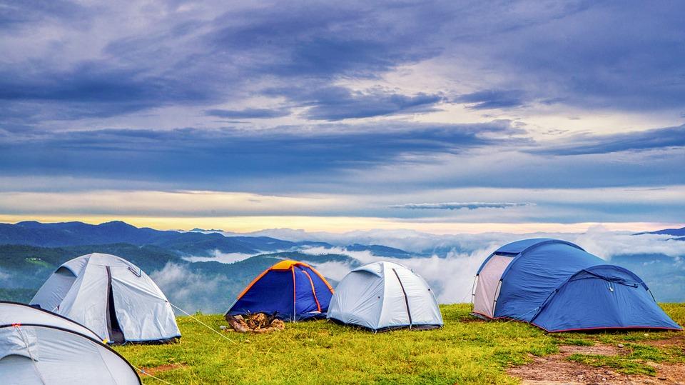 stanování v horách